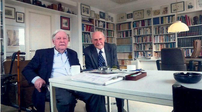 Mit Helmut Schmidt auf Augenhöhe