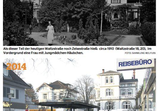 """""""Wer erinnert sich  noch an Burmeister?"""" Fotoausstellung: Die Waitzstraße – früher und heute"""